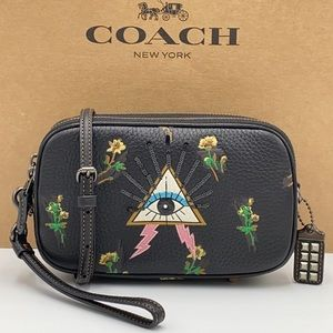 COACH Sadie Crossbody Clutch With Pyramid Eye